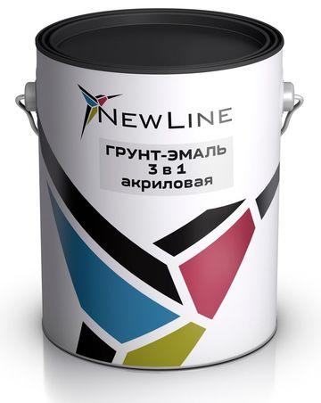 Грунт-Эмаль 3 в 1, 25 кг 15 мин
